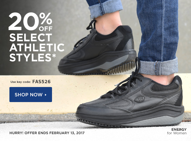 20 Off Select Athletic Styles Use Code Fas526