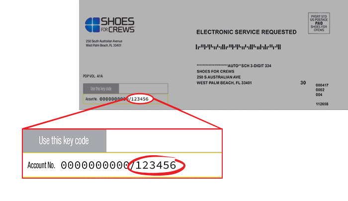 Register To Order From Shoes For Crews
