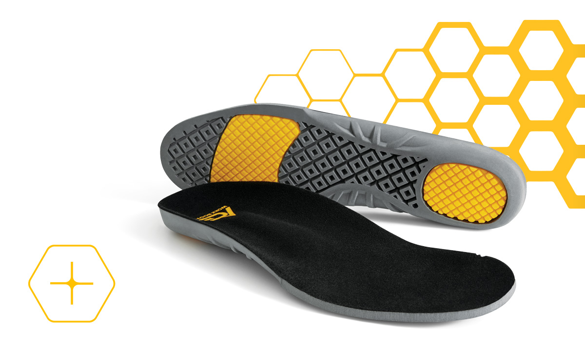 Premium insole offering lasting comfort and support.