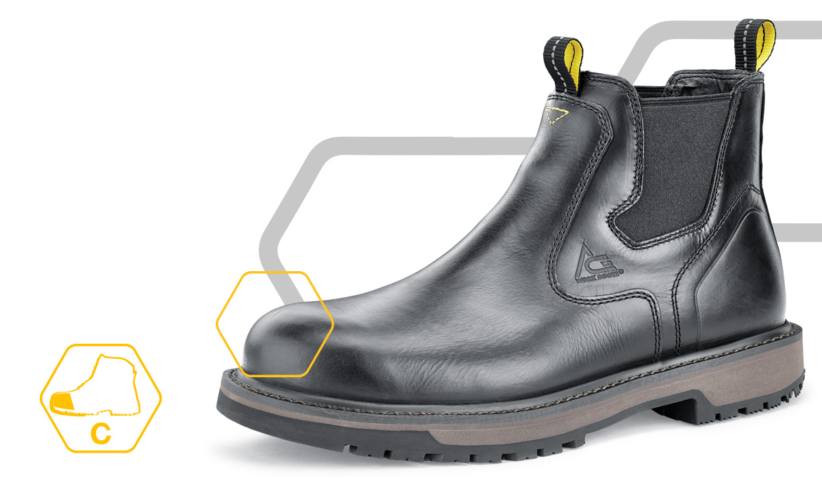If you need a non-metallic protected toe shoe or boot, the ACE composite toe is an ideal choice for protection.