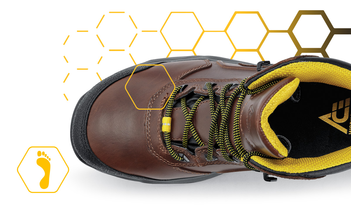 Our ergonomic fit styles offer a roomier toe box which can help to prevent fatigue and encourage natural foot movement.