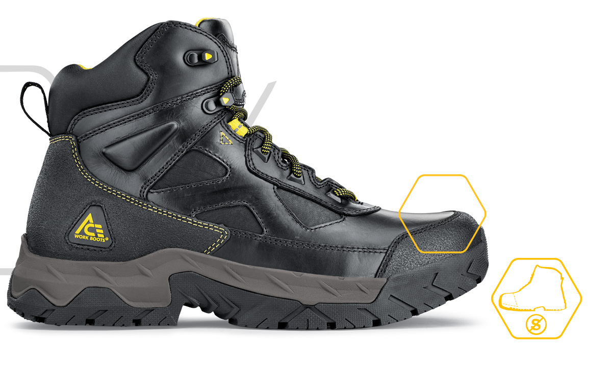 ACE soft toe boots and shoes provide the slip-resistance and technology built into all of our products.