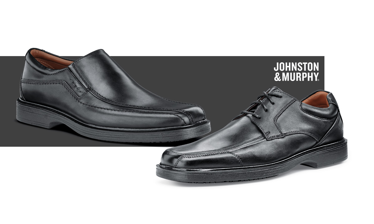 Dress the part, in shoes that give you the professional edge. With a padded collar and memory foam cushioning, these shoes will keep you looking sharp and staying safe.
