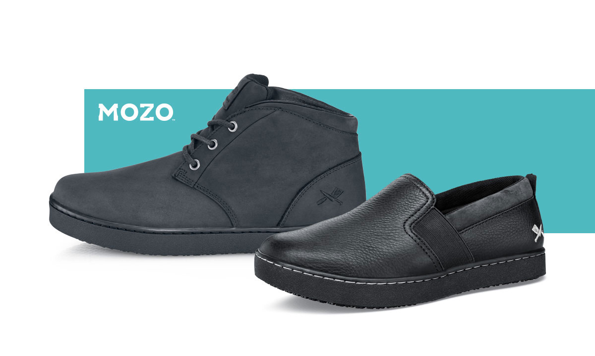 Trouble is you never know what could be under them. Now with Traction by Shoes for Crews added to MOZO style, you'll be able to stay upright and go all out, during your shift and after.