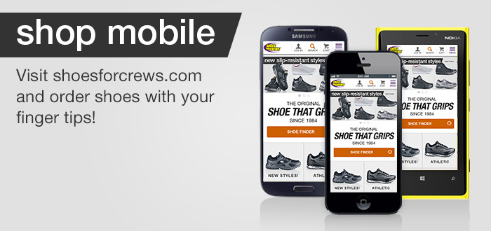 Shoes For Crews mobile web site