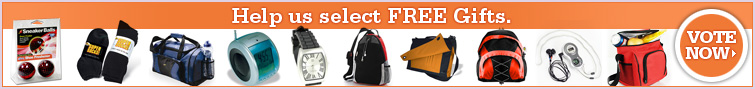 Help us select free gifts, vote now.