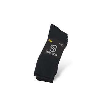 Super Socks - Midcalf - women's / Black (3 pair) Anti Slip Shoe Accessories