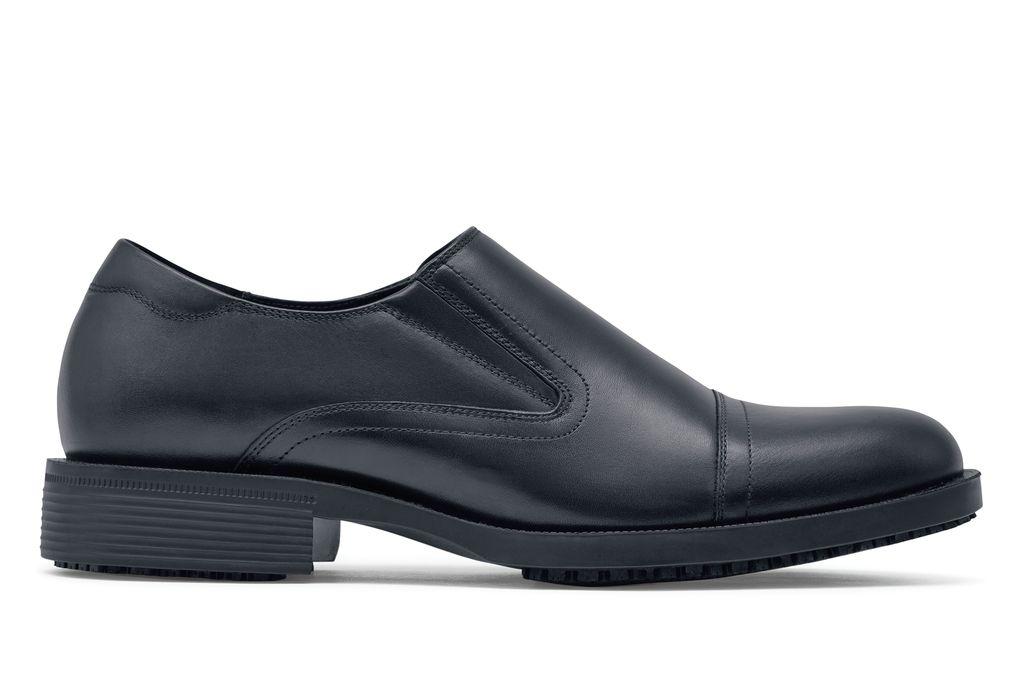 Statesman Mens Black Lace Less Dress Shoes Shoes For Crews