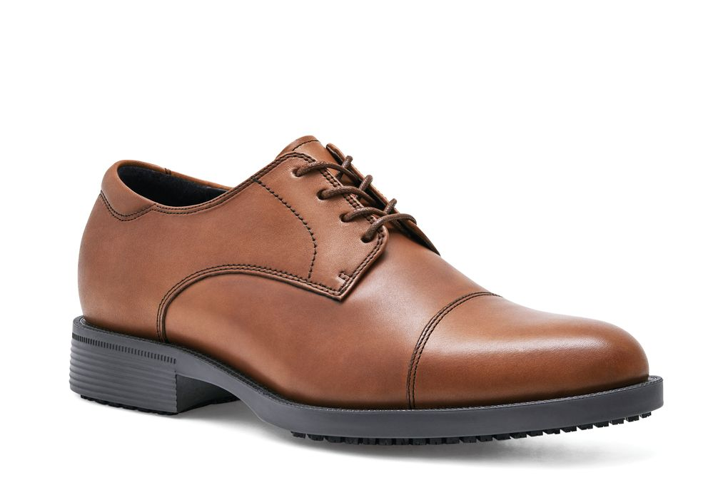 Slip Resistant Shoes For Crews Senator Brown Dress Shoes