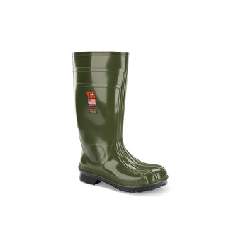 Shoes For Crews - Guardian IV - Steel Toe - Green Skid Resistant Steel Toe Boots and Shoes