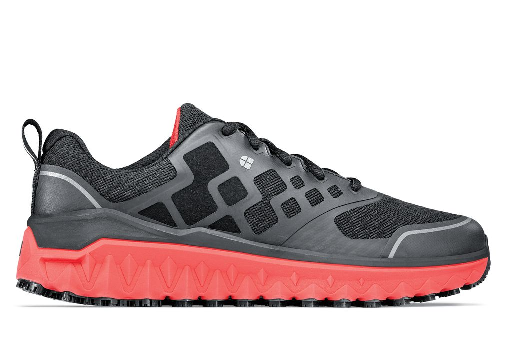 5d6f7904ad2f Bridgetown - Black Red - Men s Athletic Non-Slip Cushioned Shoe ...