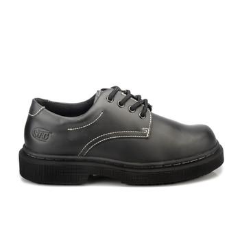Womens Non Slip Oil Resistant Work Leather Shoe Black White Size Fashion Slip On | eBay