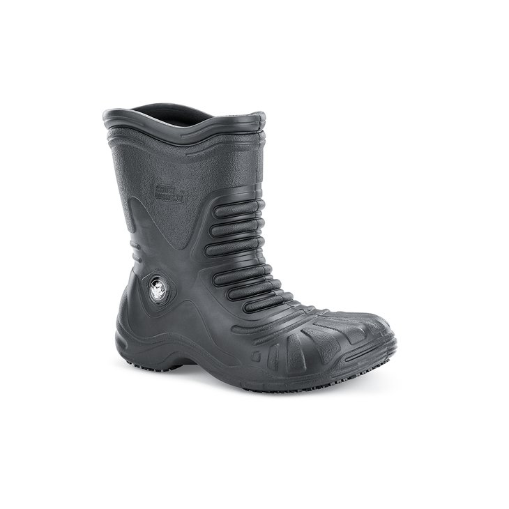Soft Toe - Black Waterproof Non Slip Work Boots - Shoes For Crews