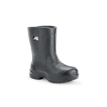 Shoes For Crews - Bullfrog Pro 12 Inch - Soft Toe - Black No Slip Work Boots