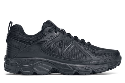 new balance black non slip shoes