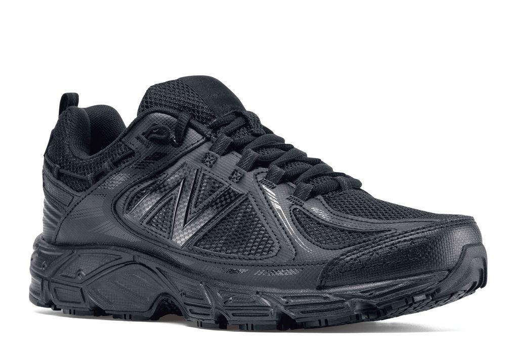 Men's Black Slip-Resistant Work Shoes