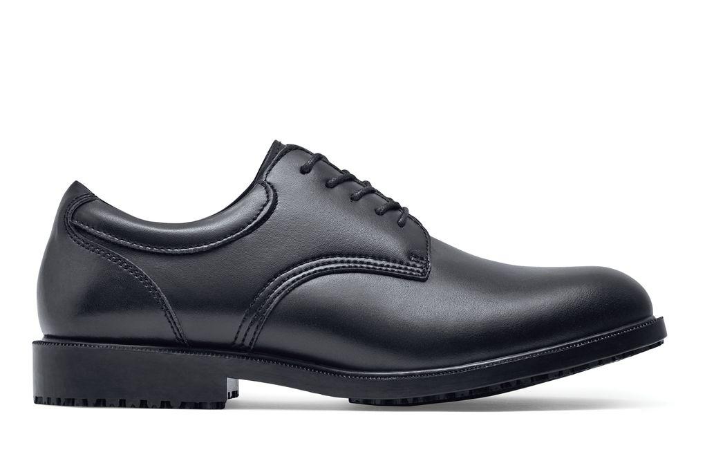 cambridge black mens slip resistant dress shoes for