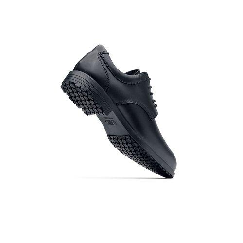 Cambridge Black Mens Slip Resistant Dress Shoes For Men