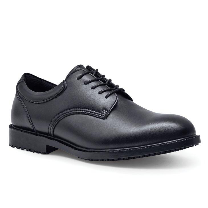 cambridge black s slip resistant dress shoes for