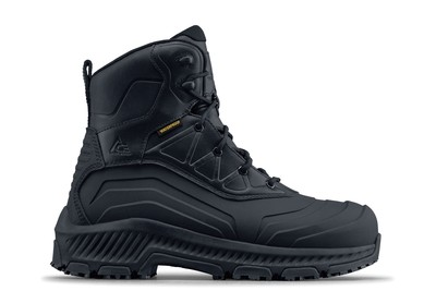 Bullfrog - Soft Toe - Black Waterproof Non Slip Work Boots - Shoes ...