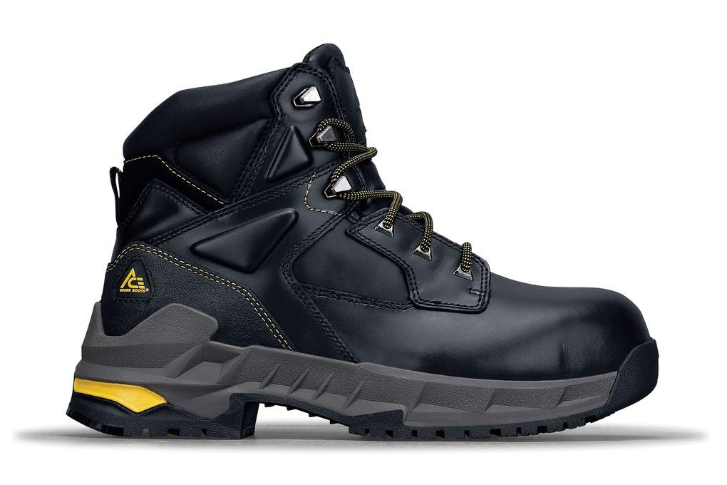 Burren Black Composite Toe   No-Slip Boots  0752b614381c