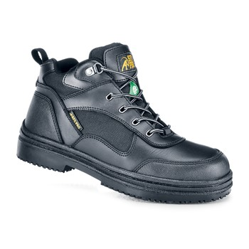 Shoes For Crews - Voyager - Steel Toe - Black Anti Slip Steel Toe Boots and Shoes