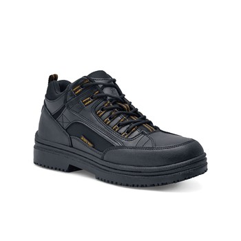 Shoes For Crews - Hornet - Steel Toe - Black / Men's Skid Resistant Steel Toe Boots and Shoes