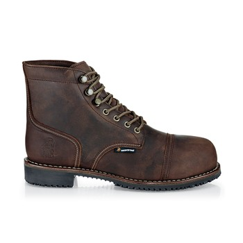 Empire - Brown - Professional Grade Work Boots, Non Slip - Shoes For Crews