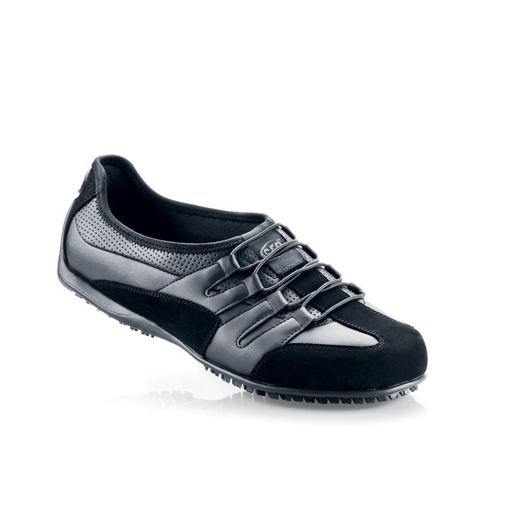 Black / Women s - Stylish Non Skid Casual Shoes - Shoes For Crews