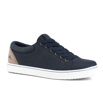 MOZO - Finn - Navy / Taupe - Men's Slip-Resistant Chef Shoes - Shoes For Crews