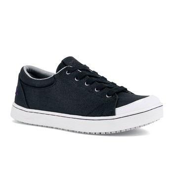 Maven - Black & White Canvas / Women's - Non-Slip Mozo Work Shoes - Shoes For Crews