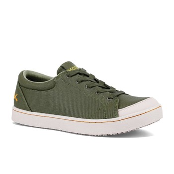Maven - Green Canvas / Women's - Non-Slip Mozo Work Shoes - Shoes For Crews