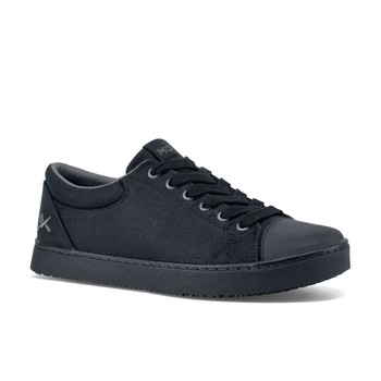 MOZO - Grind - Black Canvas / Men's - Waxed Canvas Work Shoes - Shoes For Crews
