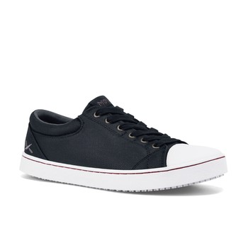 MOZO - Grind - Black & White Canvas / Men's - Non-Slip Work Shoes - Shoes For Crews