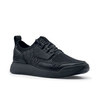 MOZO City Runner Knit - Men's Casual Charcoal/Black Non-Slip Canvas Work Shoes | Shoes For Crews
