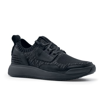 MOZO City Runner Knit - Women's Casual Charcoal/Black Non-Slip Canvas Work Shoes | Shoes For Crews