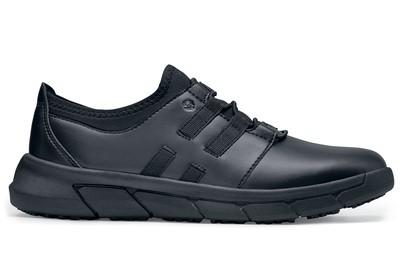 Karina  Women s Black Leather Slip-Resistant Shoes  8f54158b2e