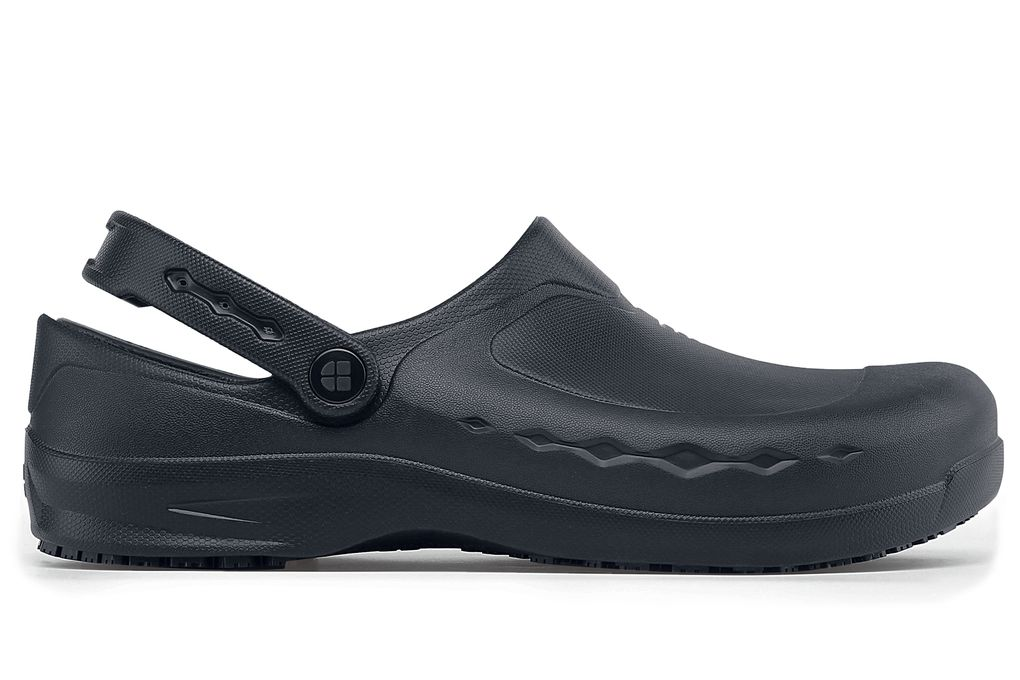 0dcd5733ac Zinc  Comfortable Black Slip-Resistant Work Clogs